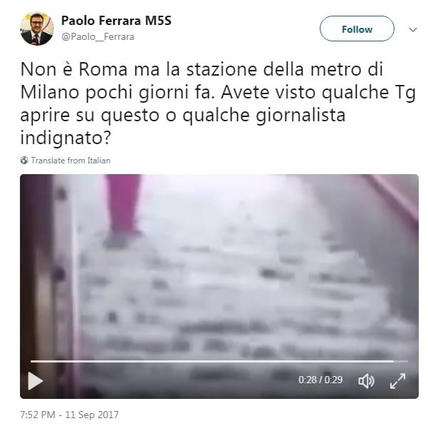 paolo ferrara m5s allagamento metro milano 2014 - 1
