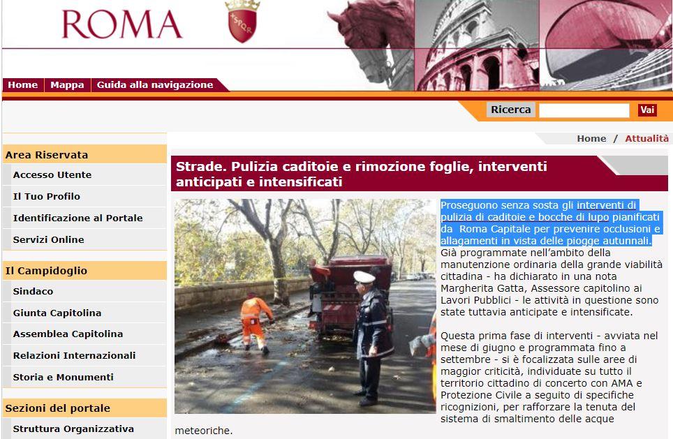 roma pioggia atac