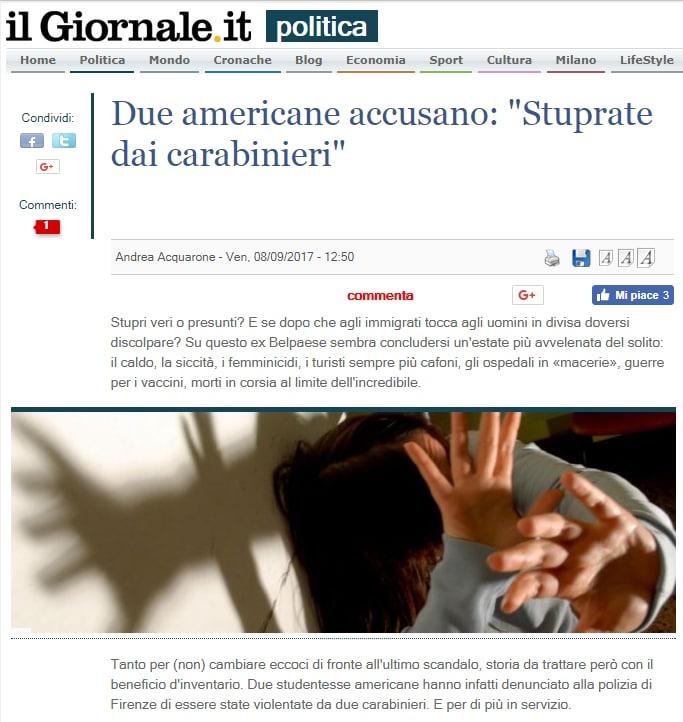 stupro firenze carabinieri turiste usa - 19