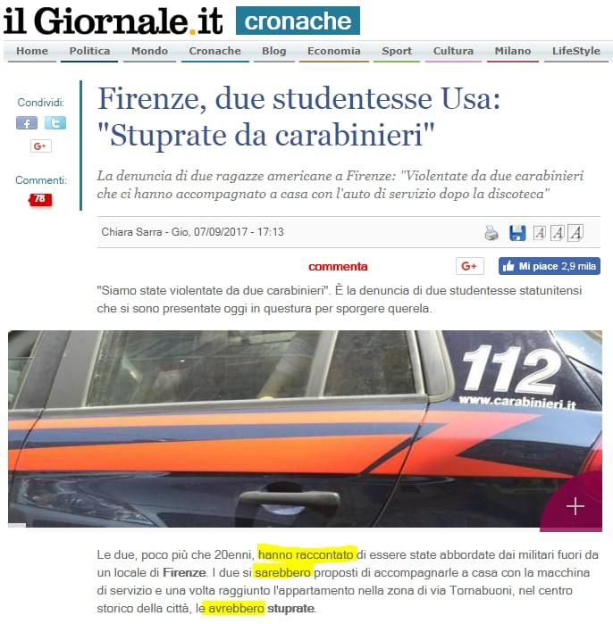 stupro firenze carabinieri turiste usa - 22