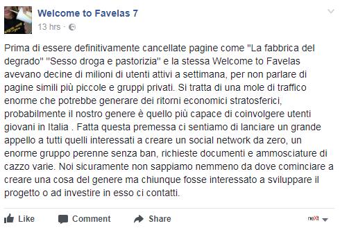 welcome to favelas lucarelli social network - 1