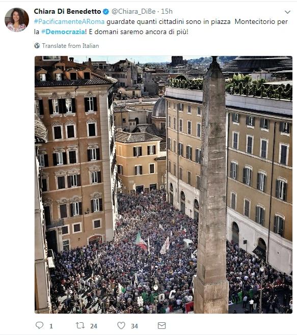 5 stelle bandiera italiana rosatellum montecitorio - 3