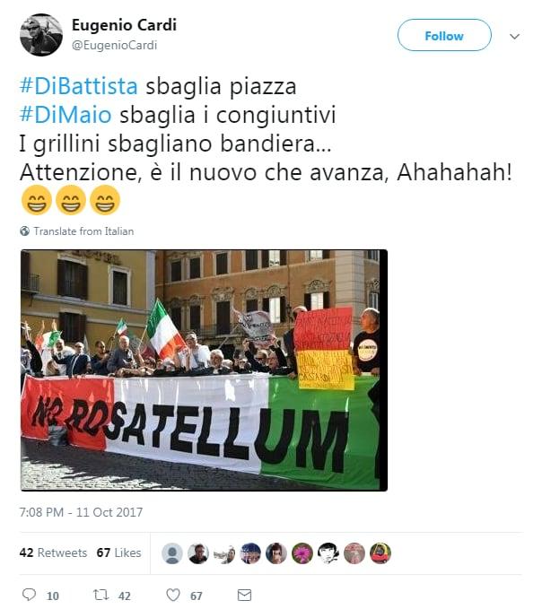 5 stelle bandiera italiana rosatellum montecitorio - 4