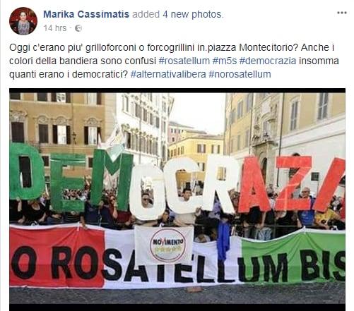 5 stelle bandiera italiana rosatellum montecitorio - 6