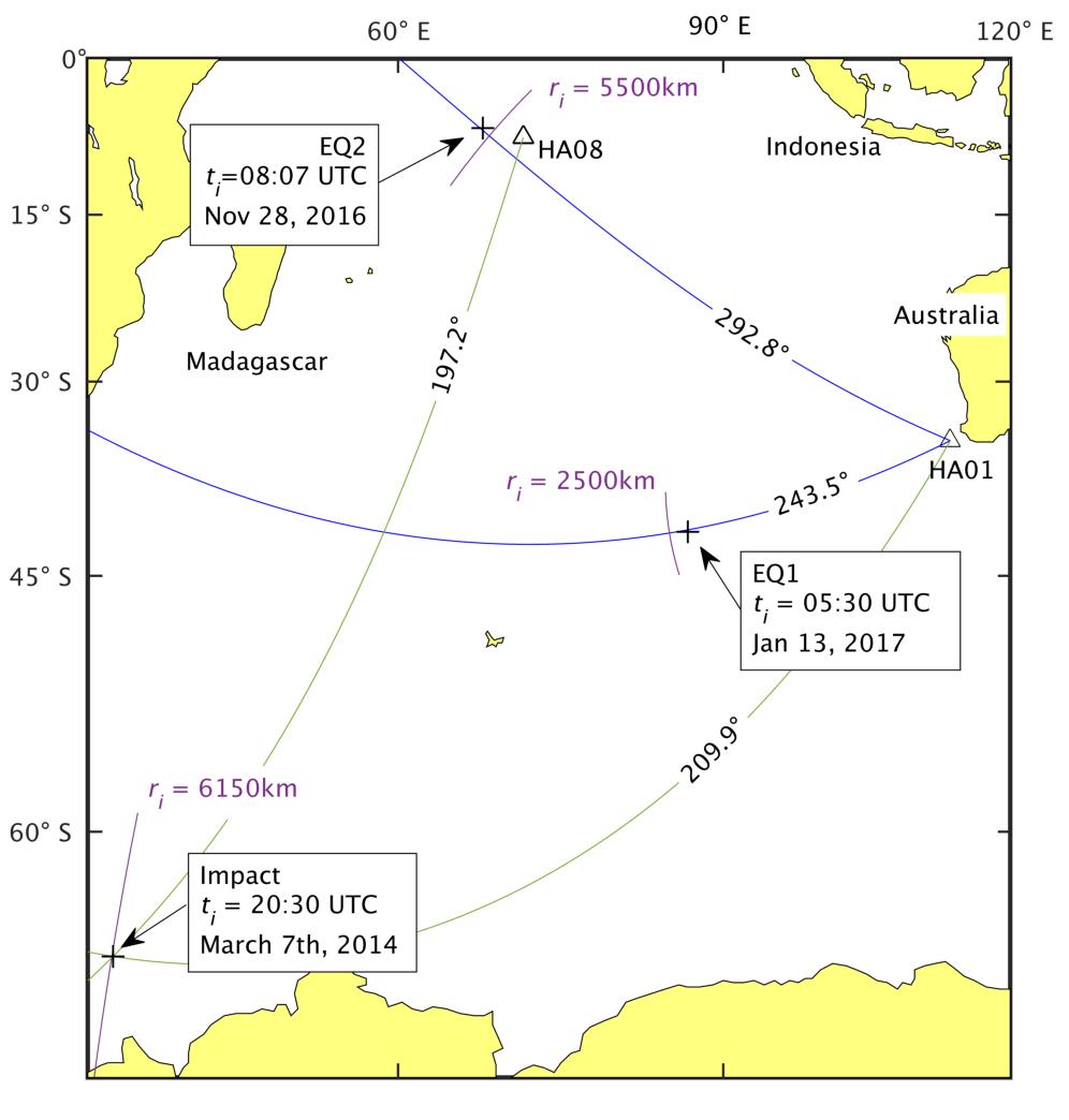 Malaysian Airlines volo MH370 ricerca mappa terremoti - 1