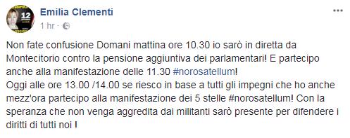 emilia clementi contestata Montecitorio - 1