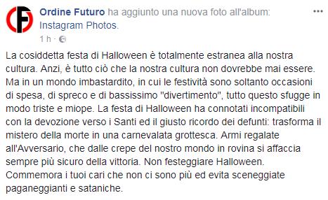 halloween forza nuova proteste - 6