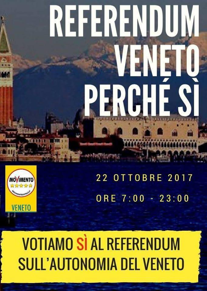 m5s referendum 22 ottobre autonomia lombardia veneto - 2
