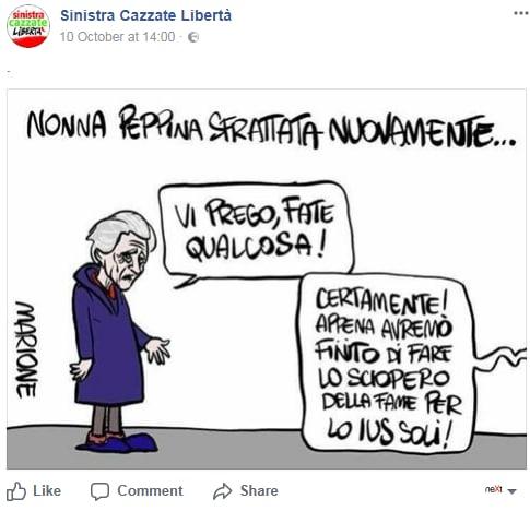 nonna peppina sinistra cazzate libertà - 2