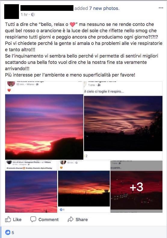 tramonto chimico inquinamento scie chimiche - 2
