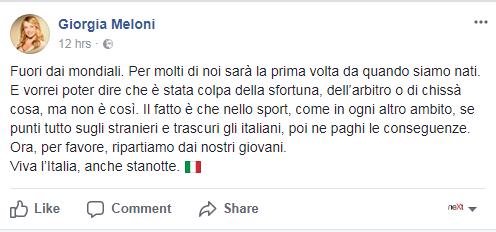 Meloni stranieri italia eliminazione mondiale - 10