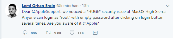 apple root password bug MacOs High sierra - 3