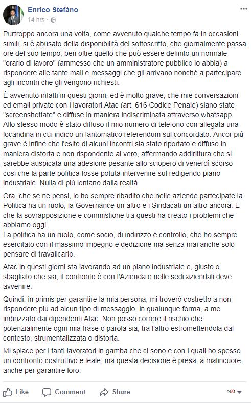atac metro roma sciopero bianco enrico stefàno - 4
