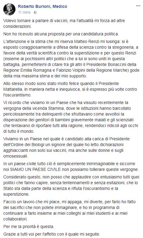 burioni candidatura senato pd renzi resto carlino - 1