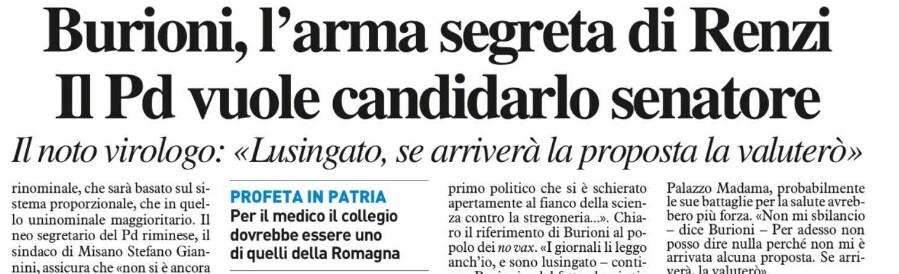 burioni candidatura senato pd renzi resto carlino - 2