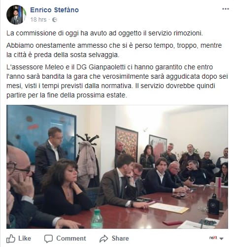 enrico stefàno servizio rimozioni roma bando gara ritardo - 1
