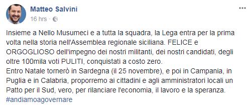 matteo salvini sicilia voti fratelli d'italia - 1