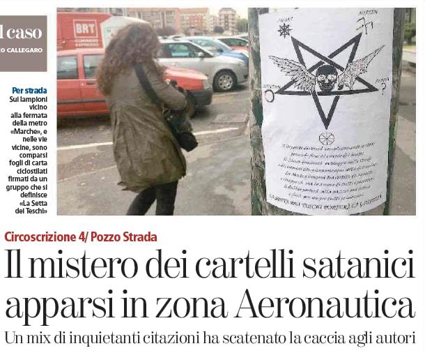 messaggi satanici torino volantino pozzo strada - 1