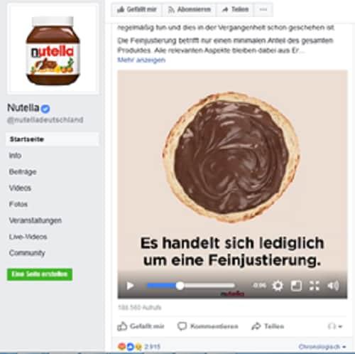 nutella cambia ricetta germania