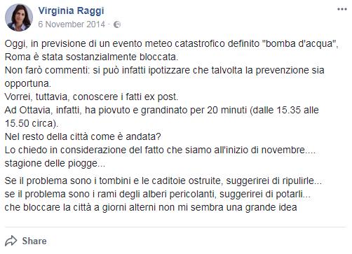 pioggia roma raggi ostia voto x municipio - 4