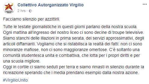 virgilio unito proteste studenti liceo roma - 1