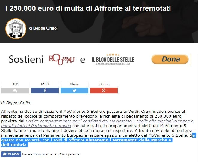 100mila euro multa a chi se ne va