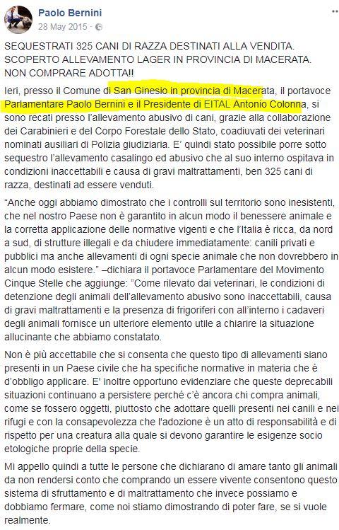 PAOLO BERNINI ANTONIO COLONNA EITAL SAN GINESIO SEQUESTRI - 2