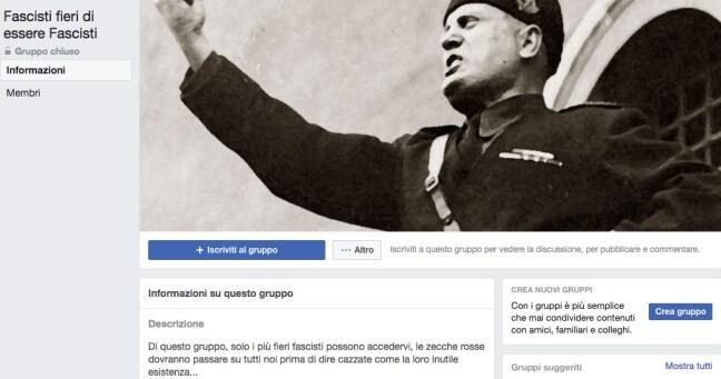arianna giunti fascisti su facebook