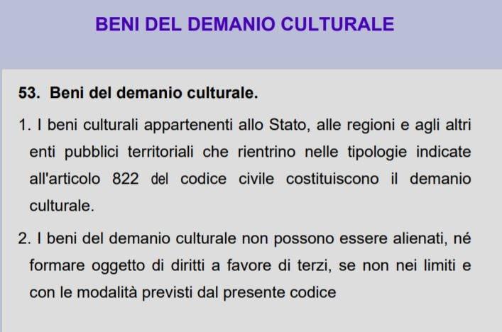 beni demanio culturale