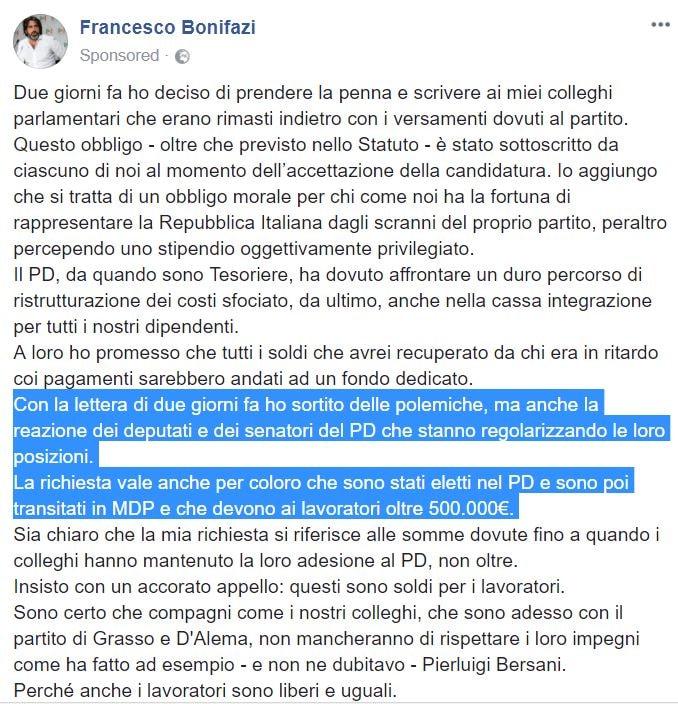 francesco bonifazi mdp