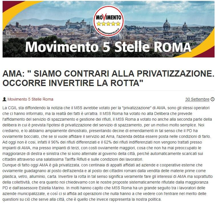 m5s roma ama rifiuti 2015 - 1