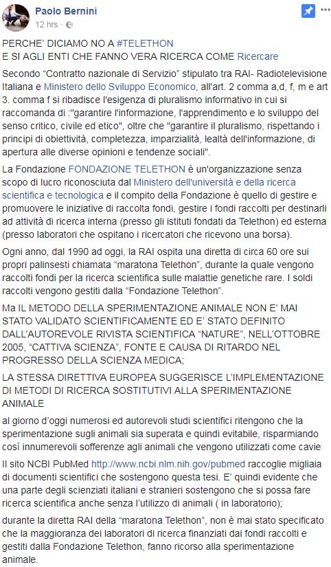 paolo bernini telethon icare ricercare tettamanti - 6