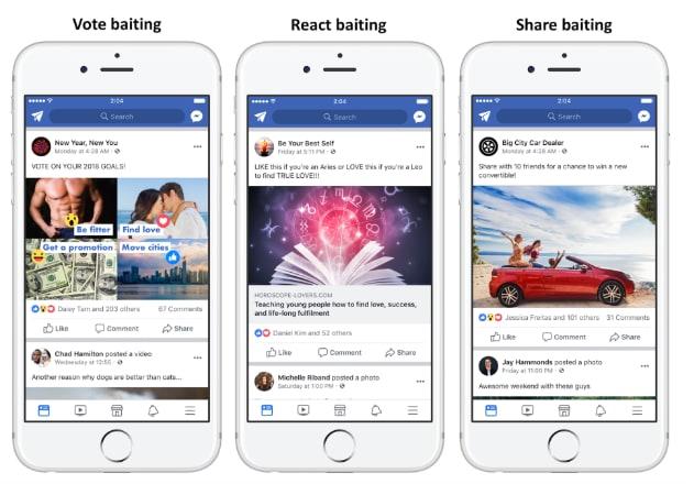 share baiting facebook condivisioni engagement bait - 1