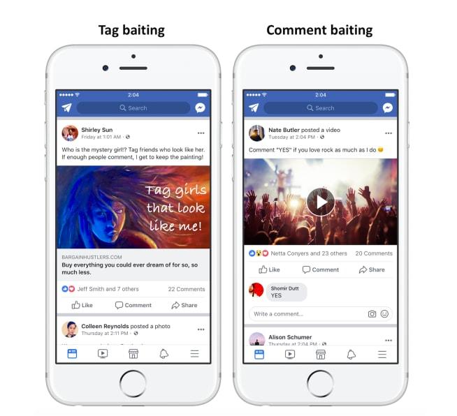 share baiting facebook condivisioni engagement bait - 2