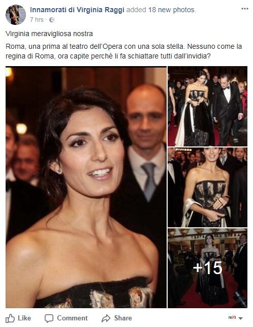 virginia raggi opera roma vestito commenti - 10