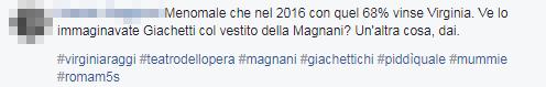 virginia raggi opera roma vestito commenti - 14