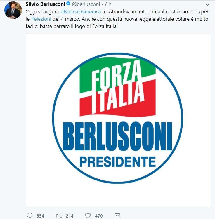 berlusconi presidente forza italia