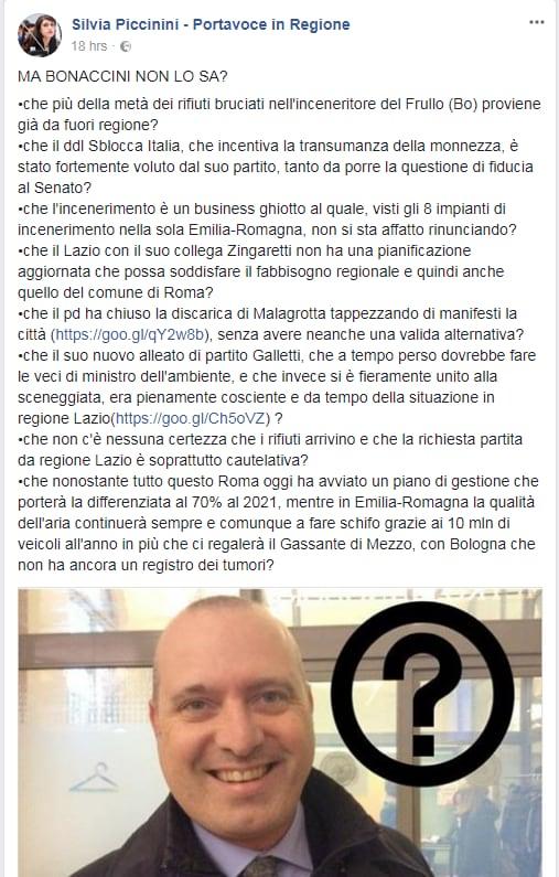daniele diaco bonaccini rifiuti emilia romagna roma - 3