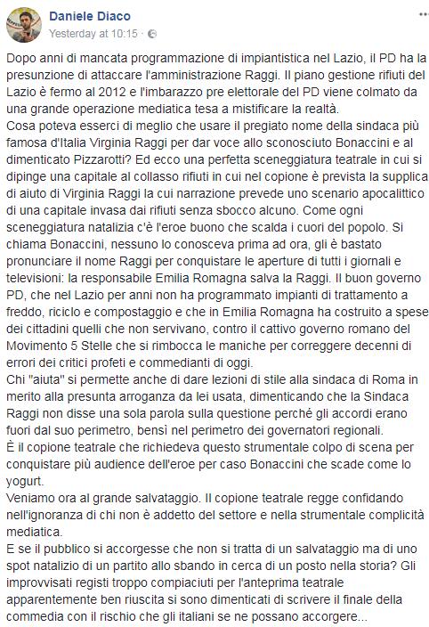 daniele diaco bonaccini rifiuti emilia romagna roma - 5