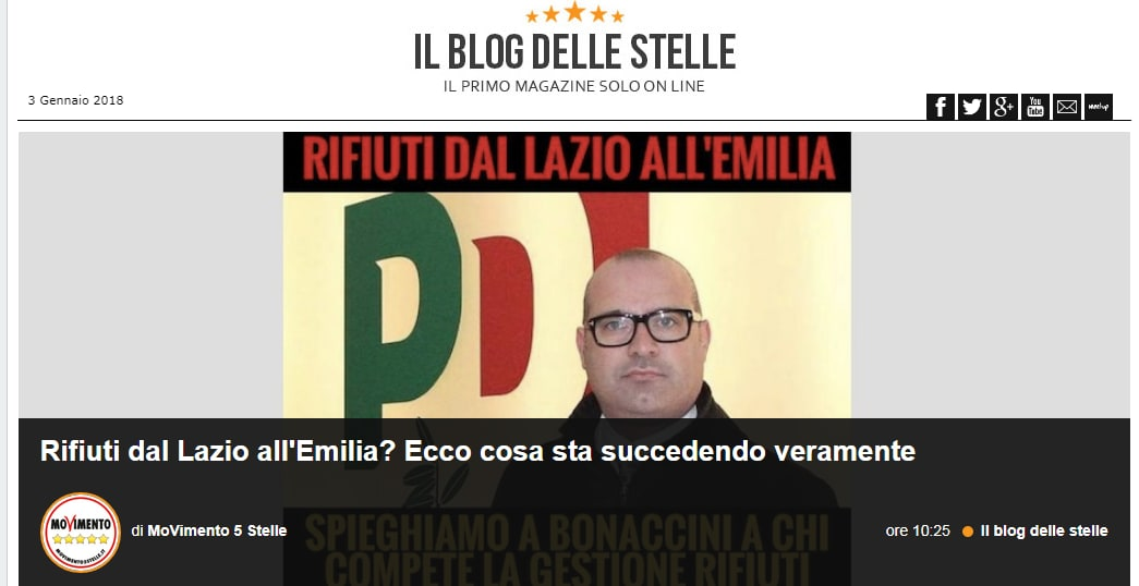 daniele diaco bonaccini rifiuti emilia romagna roma - 6