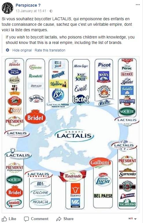 lactalis latte in polvere salmonella boicottaggio -2