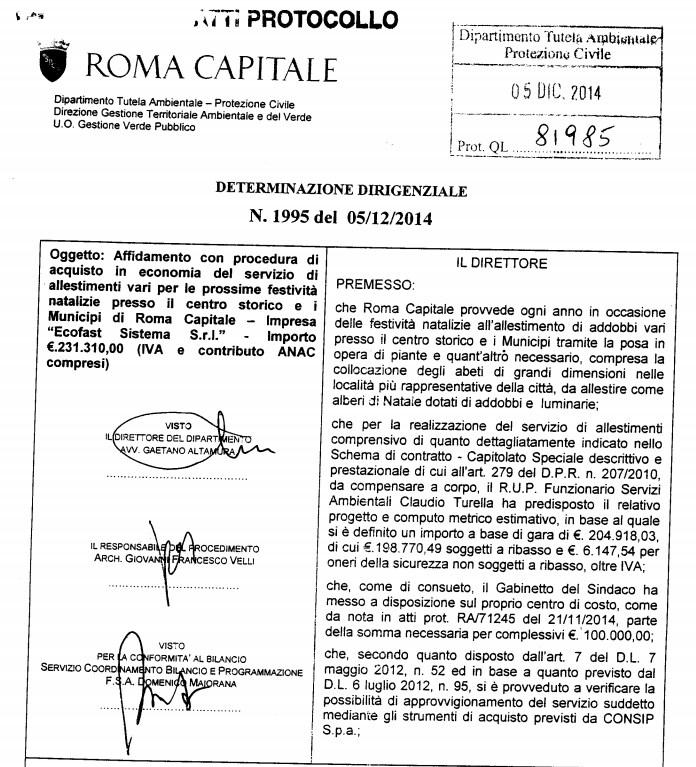 montanari spelacchio bando albero natale roma capitale bufale - 2