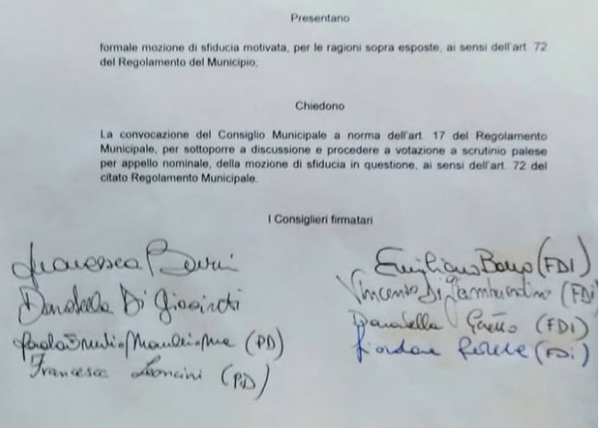 mozione sfiducia capoccioni III municipio - 2