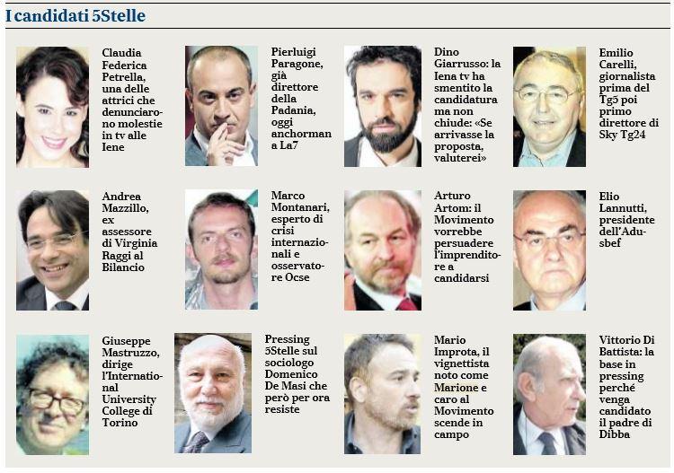 parlamentarie m5s candidati marione paragone