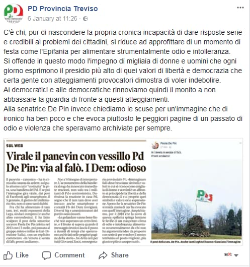partito democratico paola de pin falò panevin veneto treviso - 3