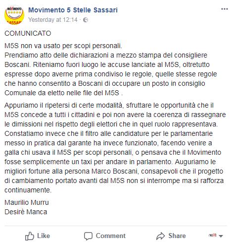 sassari rissa consiglio comunale 5 stelle - 1