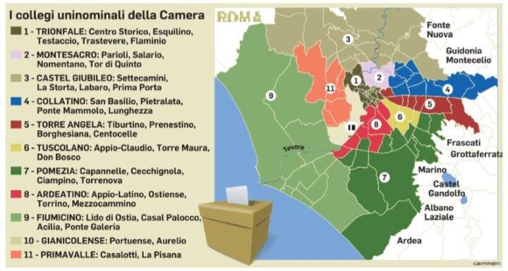 scheda elettorale come si vota a roma