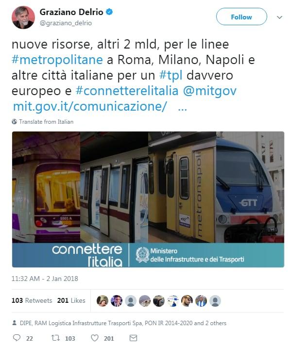 virginia raggi 425 milioni roma metro - 3