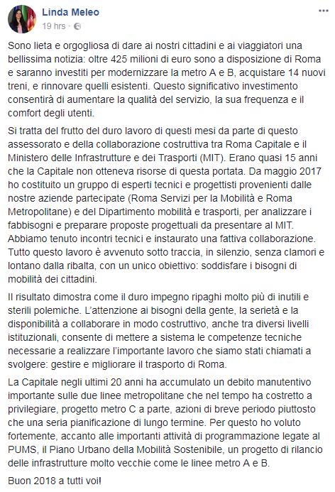 virginia raggi 425 milioni roma metro - 4