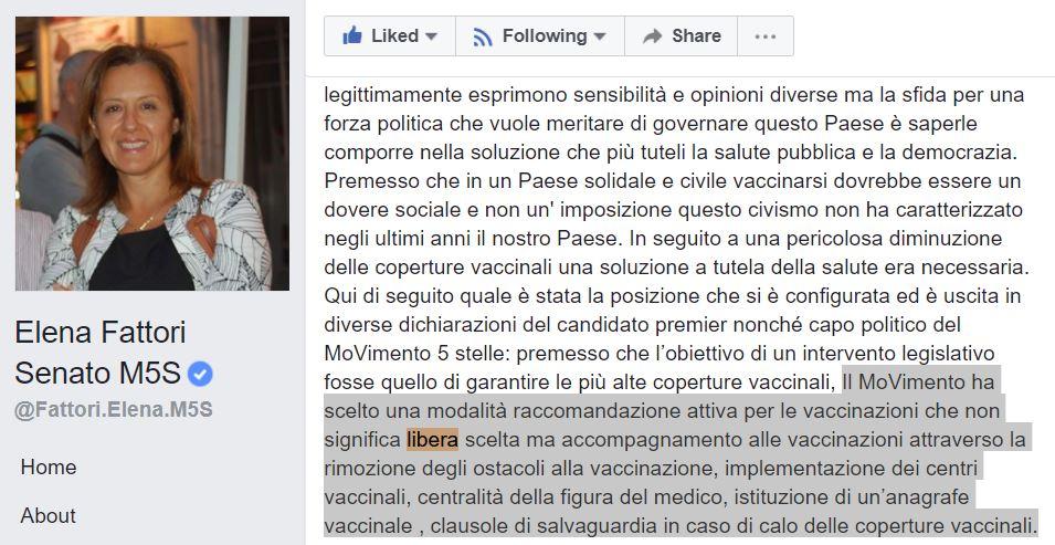 elena fattori vaccini libertà di scelta
